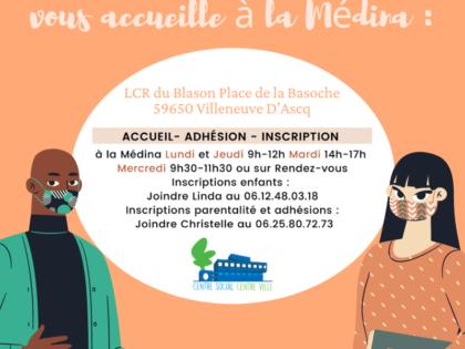 Accueil /  Adhésion / Inscription à la Médina – Novembre 2020